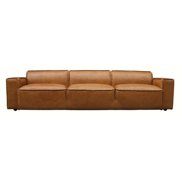Tan Leather Sofa | Wayfair.co.uk