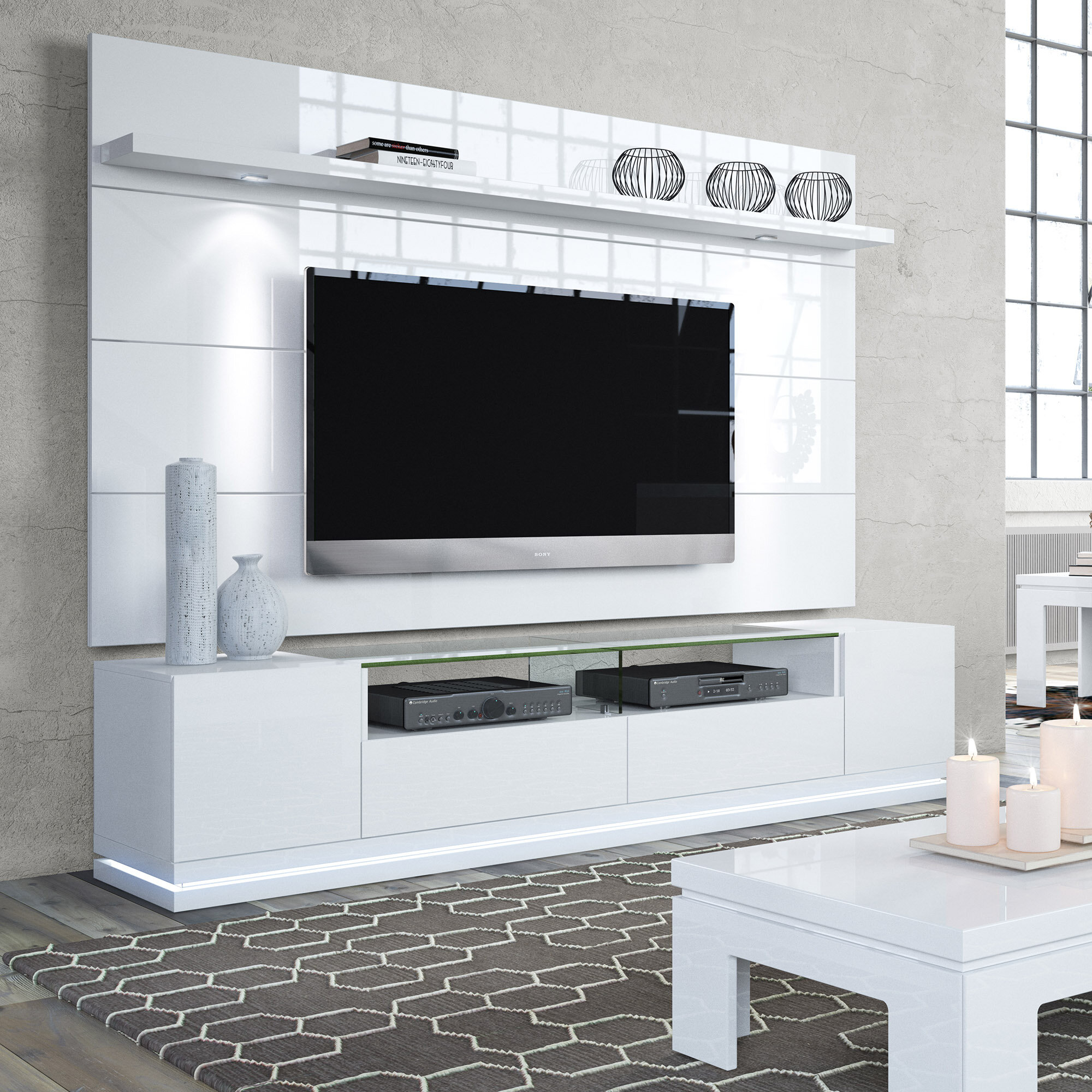 Tremendous Danforth Floating Wall Tv Stand For Tvs Up To 78 Download Free Architecture Designs Scobabritishbridgeorg
