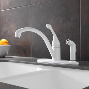 Collins Single Handle Kitchen Faucet With Spray
