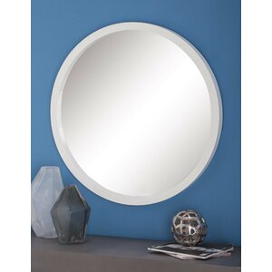 Wood Round Wall Mirror