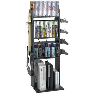 Game Central Multimedia Storage Rack by Rebrilliant
