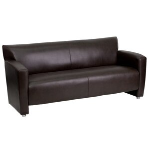 Bouffard Majesty Series Leather Sofa by Orren Ellis