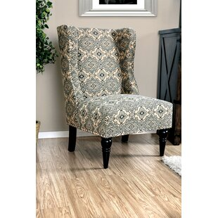 Belcher Patterned Fabric Wingback Chair
