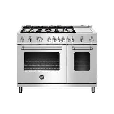 Master Series 48 Free-standing Gas Range with Griddle Bertazzoni