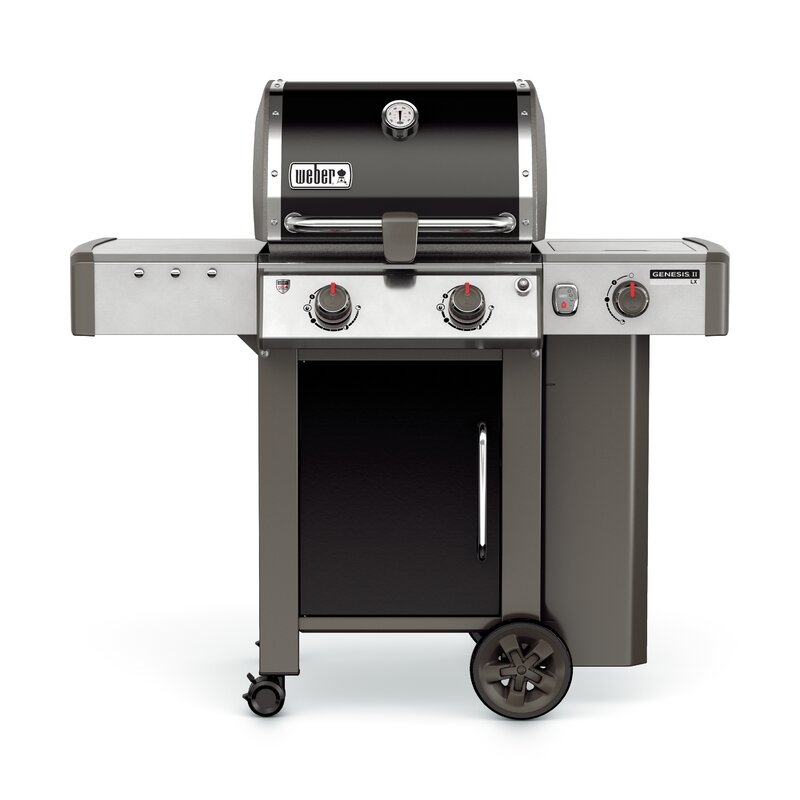 Genesis Ii Lx E 240 2 Burner Propane Gas Grill With Side