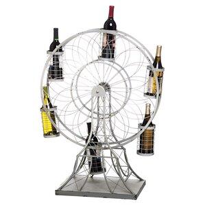 Crawford Ferris Wheel 5 Bottle Tabletop Wine Rack by 17 Stories