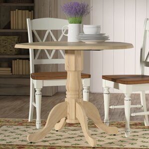 Toby Dining Table with Dual Drop Leaf by August Grove