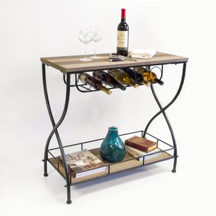 Savarese Rustic Industrial Bar Cart