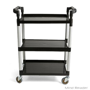 3 tier cart with wheels canada tier mobile rolling bar cart with handle with wheels wayfair