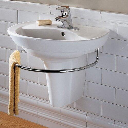 Ravenna Vitreous China 24 Semi Pedestal Bathroom Sink With Overflow
