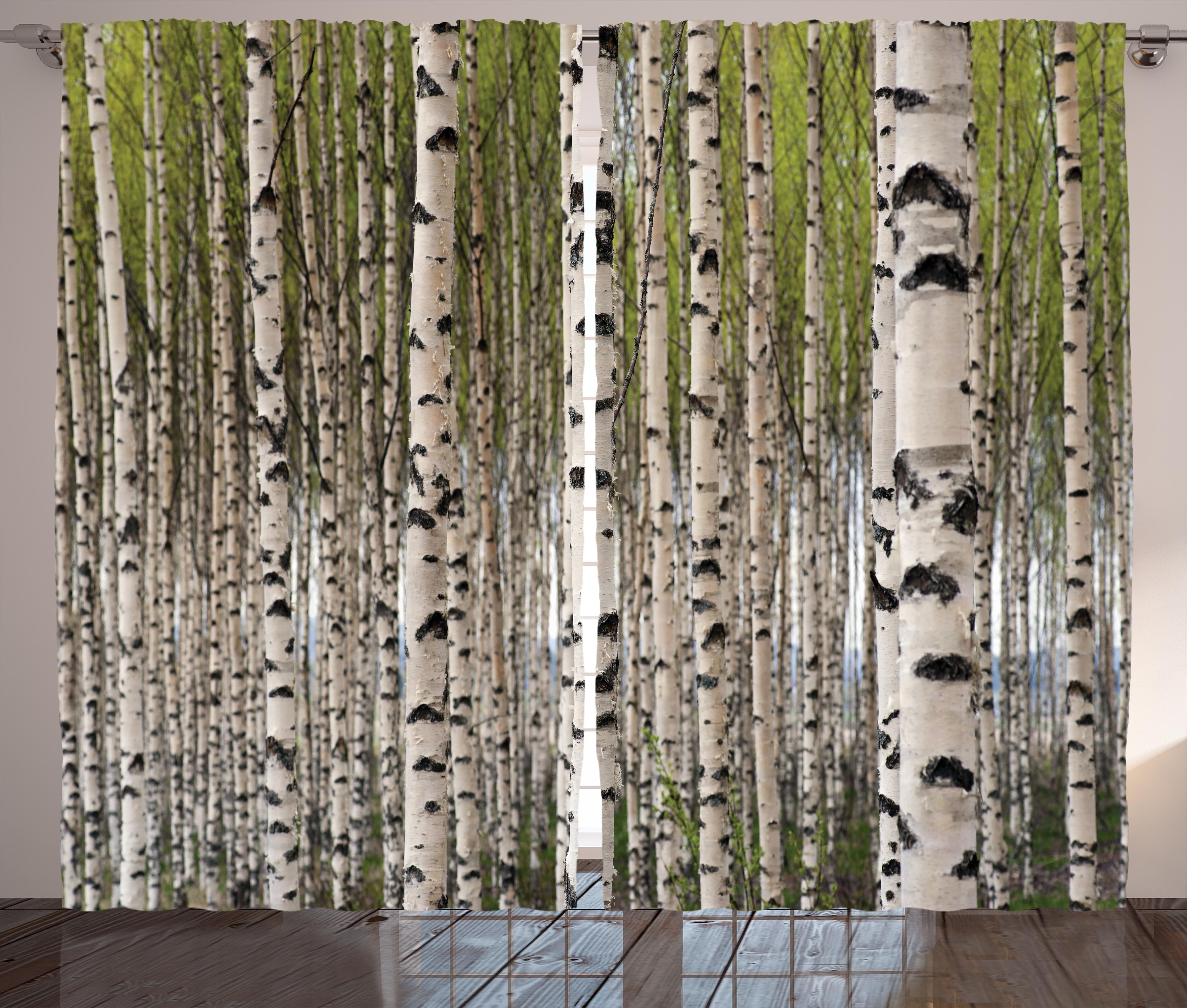 Well known East Urban Home Tree Nature Theme Design Birch Trees with Leaves  WG57