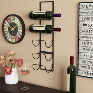 Leveson 5 Bottle Wall Mounted Wine Rack Top Reviews