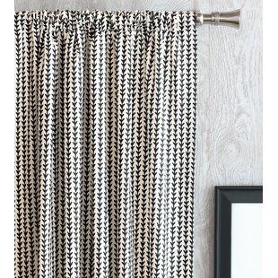 Bowie Ziggy Vine Plaid Check Semi Sheer Thermal Rod Pocket Single Curtain Panel
