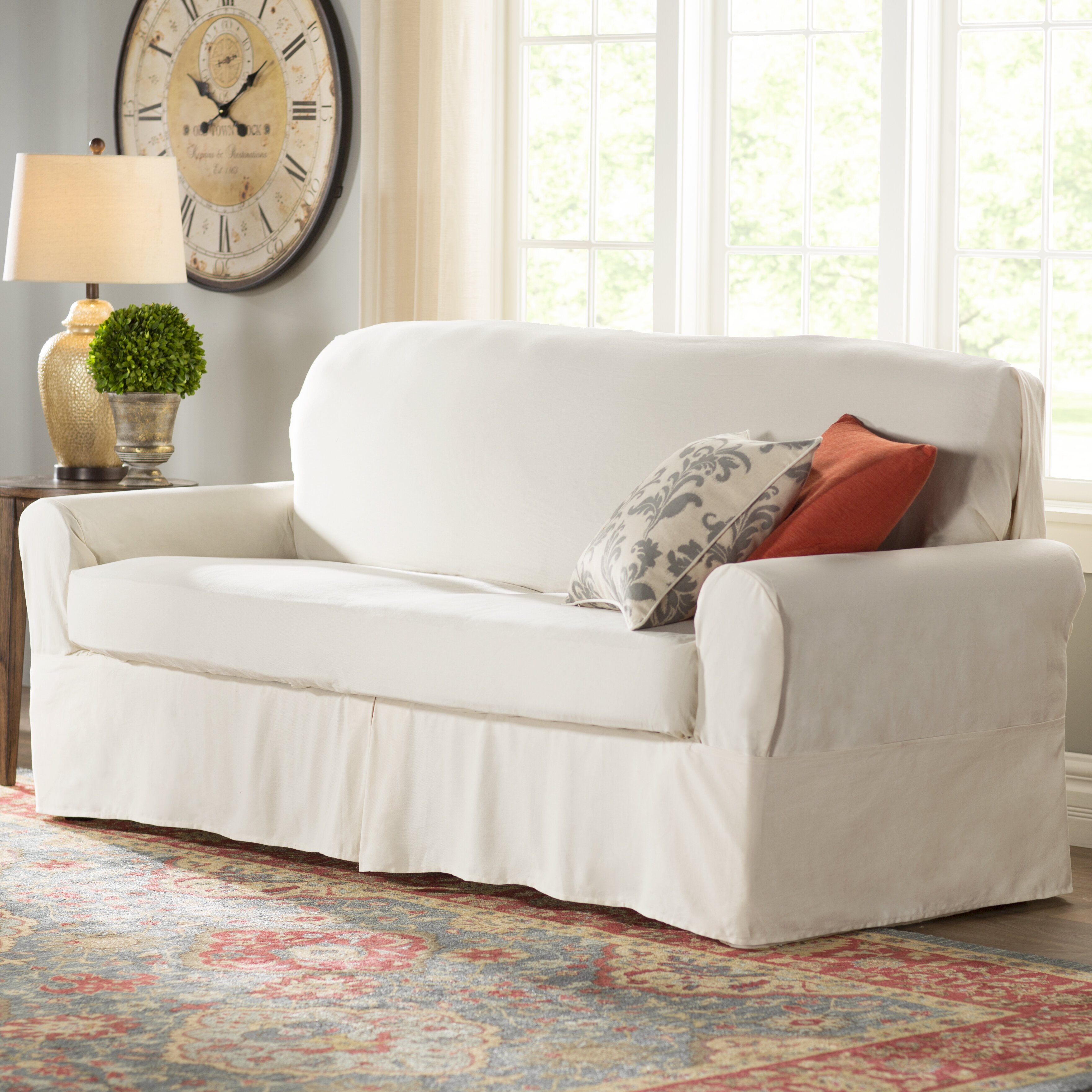 Darby Home Co Box Cushion Sofa Slipcover U0026 Reviews | Wayfair