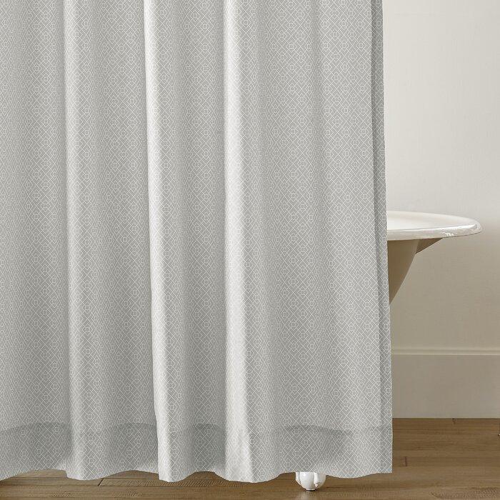Diamond Lattice Cotton Single Shower Curtain