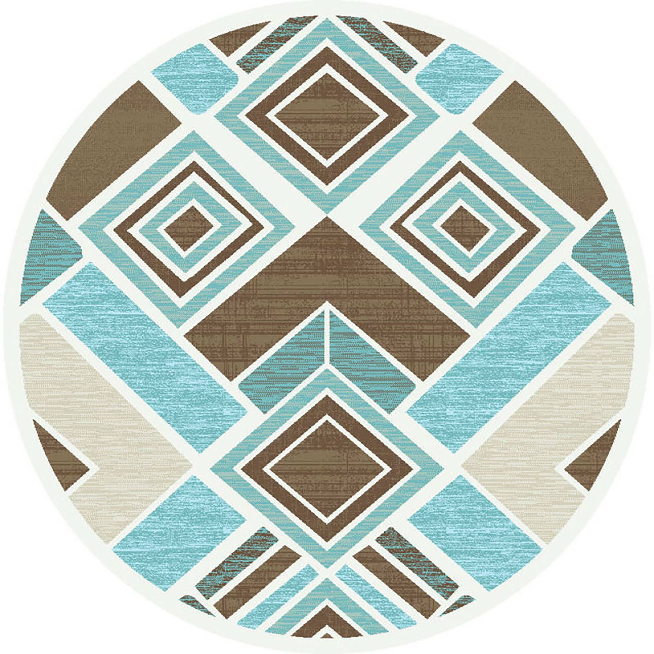 Bronx Blue Bedroom Project: Ivy Bronx Mccampbell 3D Brown/Blue Area Rug