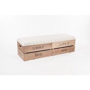 Gepolsterte Sitzbank Apple Crate aus Holz mit S..