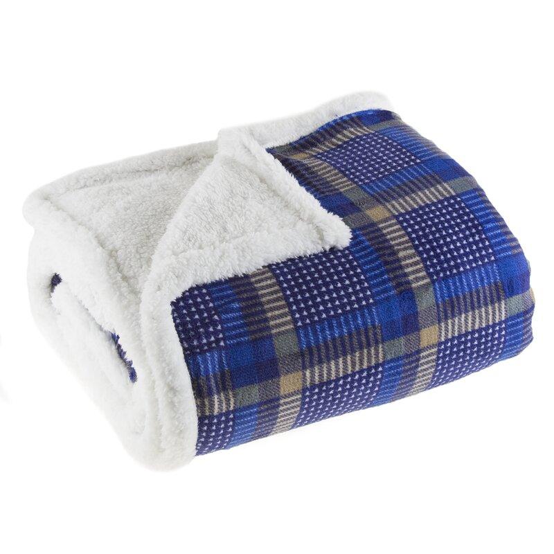 Lavish Home Plaid Sherpa Fleece Throw Blanket Wayfair Fascinating Cheap Plaid Throw Blanket