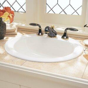 drop in bathroom sinks. Rondalyn Ceramic Circular Drop In Bathroom Sink with Overflow Sinks You ll Love  Wayfair