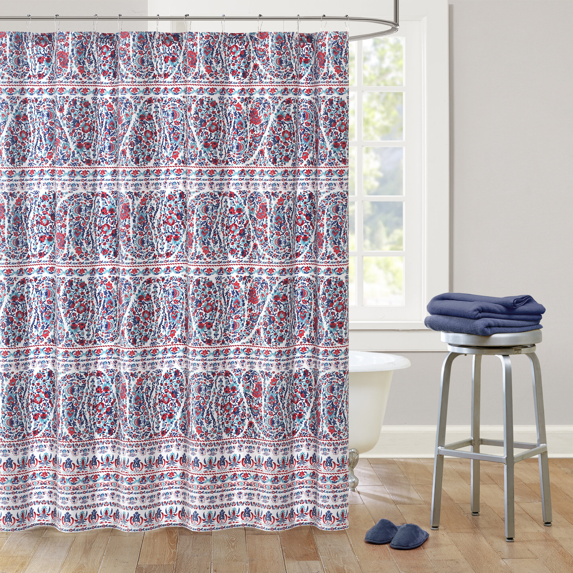 Echo Design Woodstock Cotton Shower Curtain Reviews