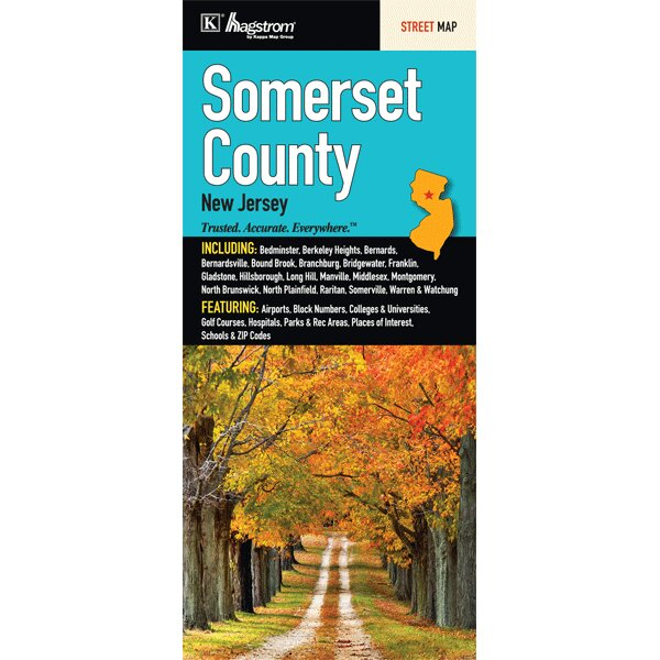 Somerville Zip Code Map.Universal Map Somerset County Fold Map Wayfair