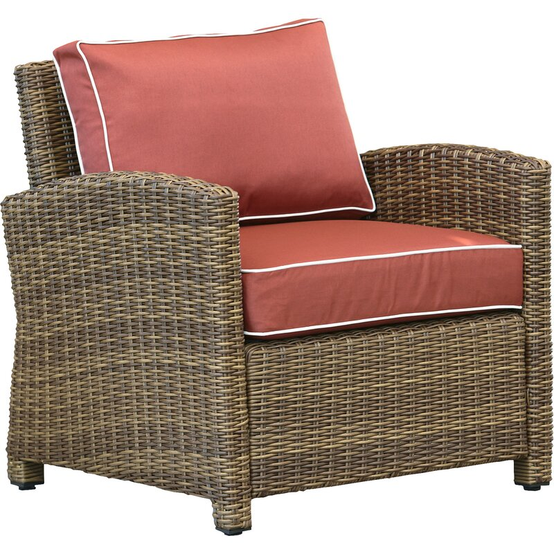 Birch Lane Heritage Lawson Patio Chair With Cushions Reviews