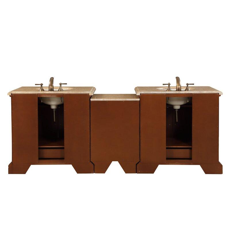 "Modular Bathroom Cabinets silkroad exclusive 90"" double sink bathroom modular vanity set"