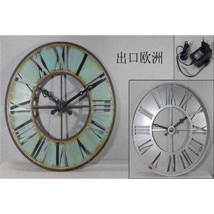 Light up wall clock wayfair oversized cassy metal framed round light up 108cm wall clock aloadofball Images