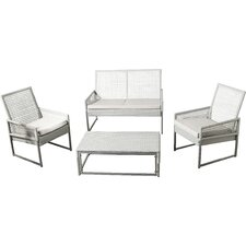Lilly 4 Piece Deep Seating Group with Cushion