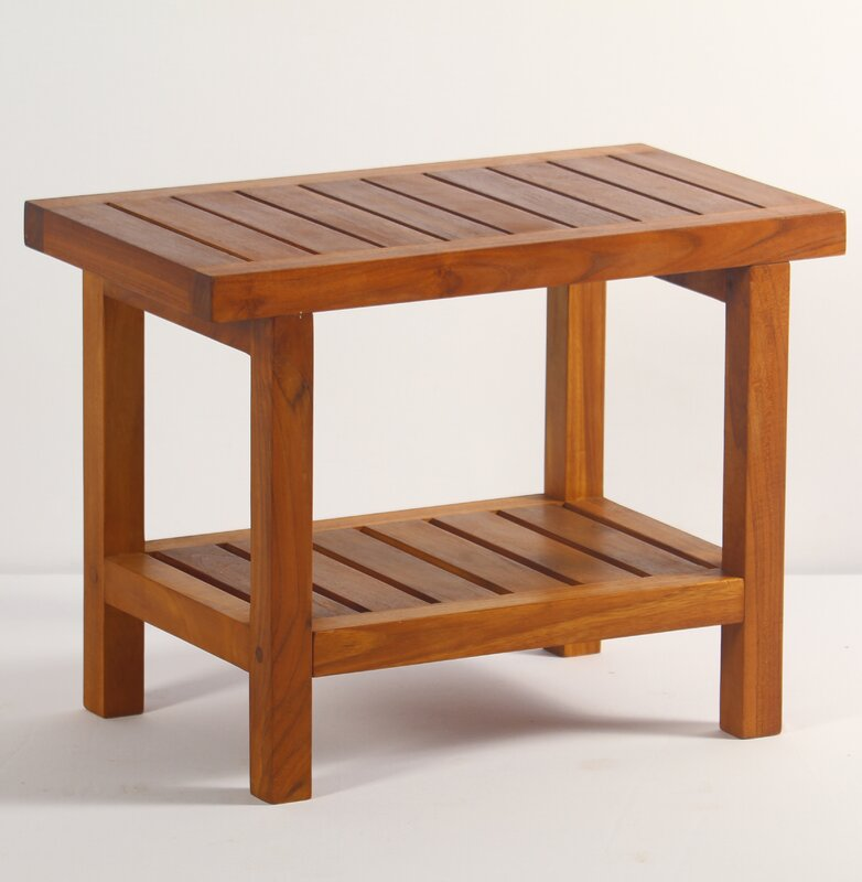 defaultname - Teak Shower Bench