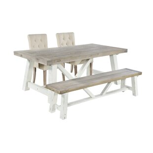 dce3bdfdc731 Anguilla Extendable Dining Set with 2 Chairs and one Bench