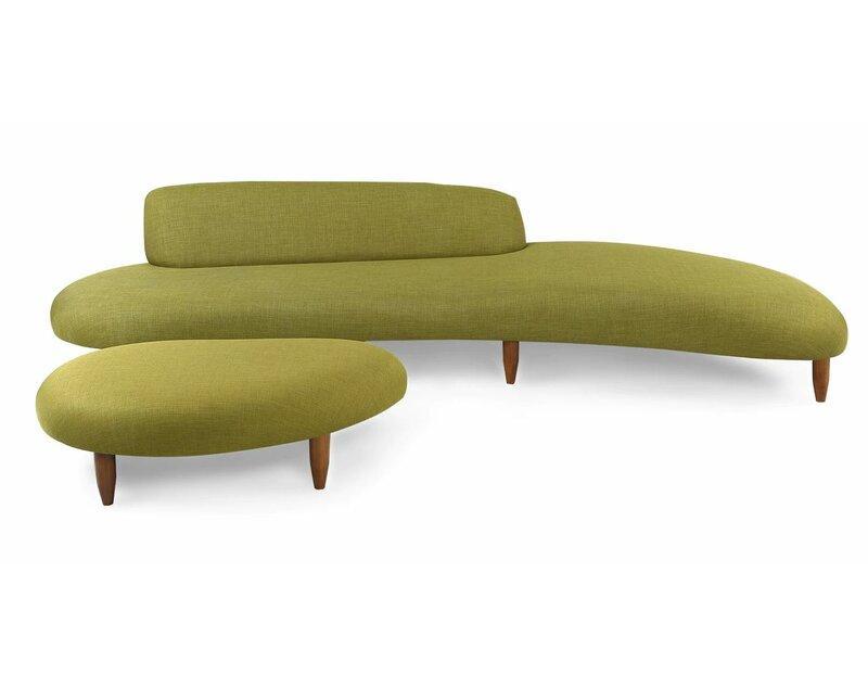 Potvin Mid Century Modern Sofa And Ottoman Set Reviews Allmodern