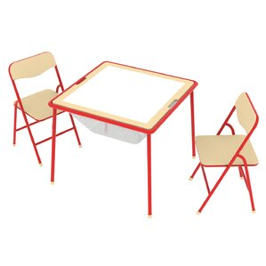 Elegant Allinfun Kidsu0027 3 Piece Square Table And Chair Set