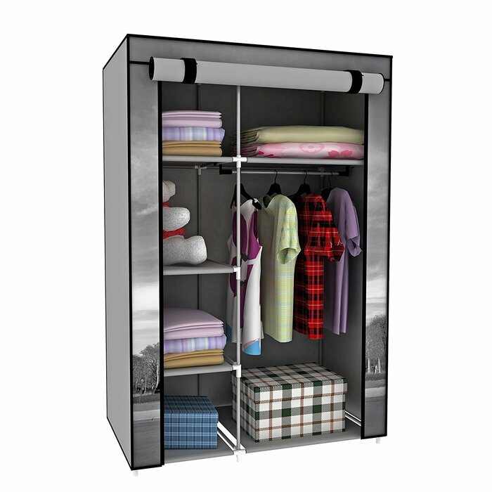 42  W Correia Eiffel Tower Cloth Wardrobe Storage  sc 1 st  Wayfair.ca : cloth wardrobe storage  - Aquiesqueretaro.Com