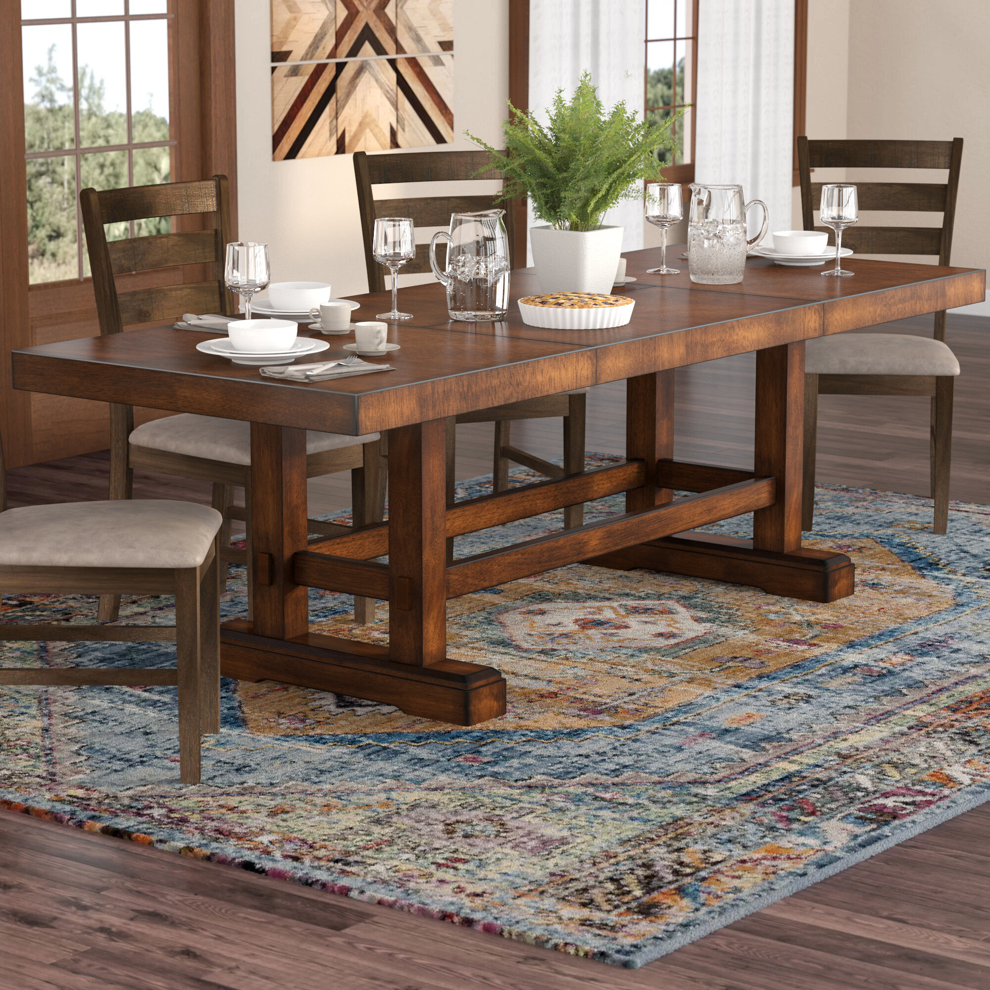 4e5f827781fd Millwood Pines Ellington Counter Height Extendable Dining Table   Reviews