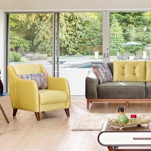 Danos Modern Velvet Wingback Chair by Brayde..