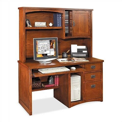 Kathy Ireland Home By Martin Furniture Mission Pasadena Deluxe Computer  Desk With Hutch U0026 Reviews | Wayfair