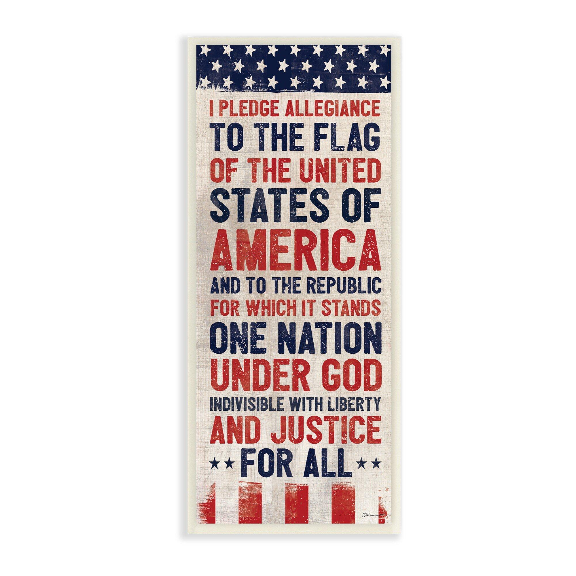4af739b6162d Winston Porter  Pledge of Allegiance Red White and Blue Flag Banner  Graphic  Art Print