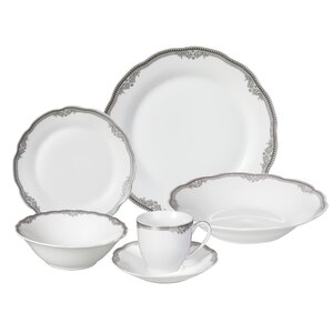 Elizabeth 24 Piece Porcelain Dinnerware Set, Service for 4