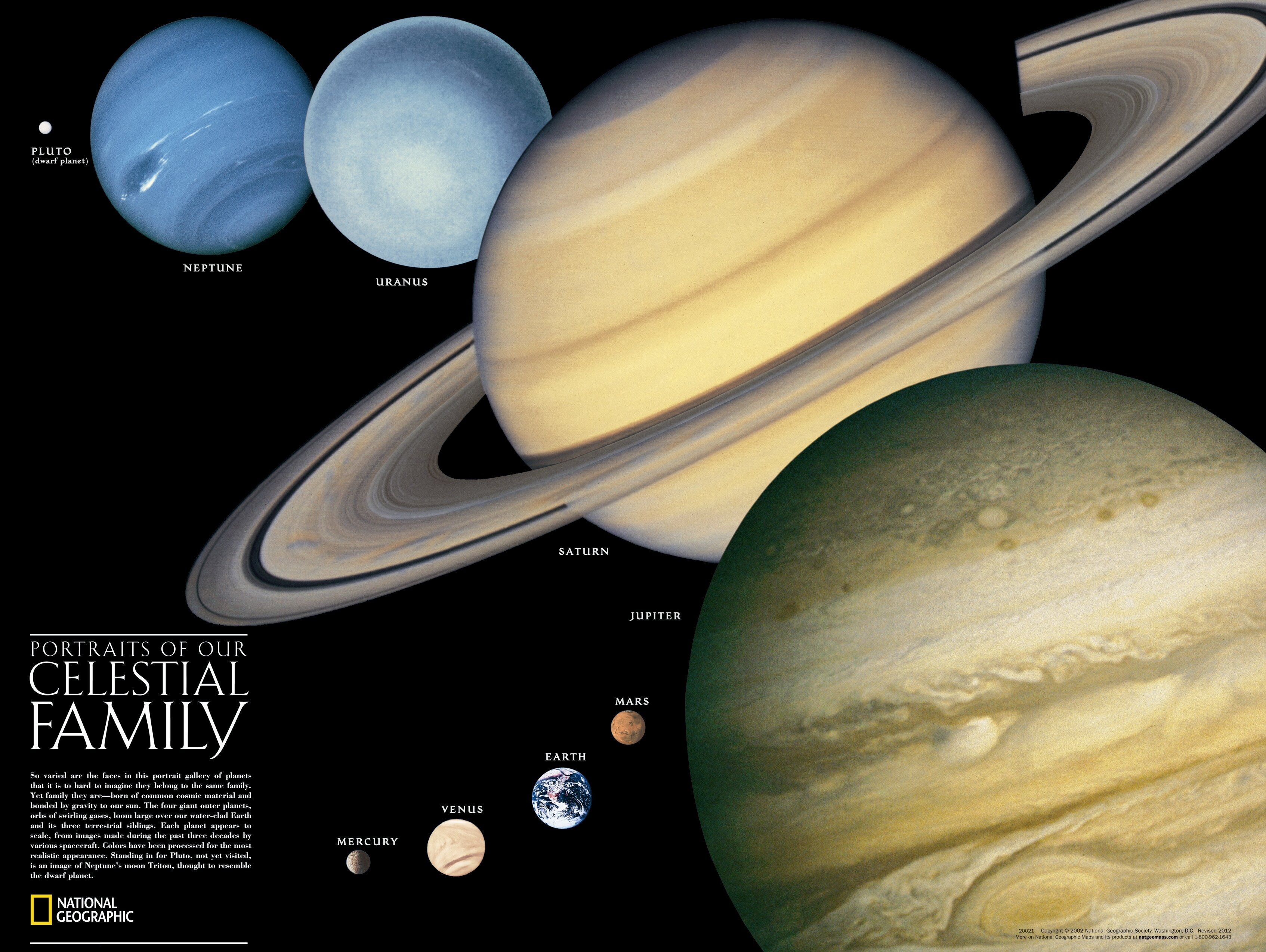 National Geographic Maps The Solar System Poster Map (Two Sided ...