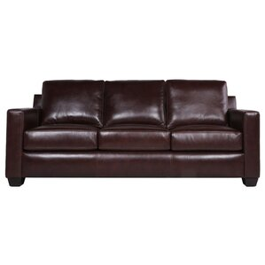 Lynn Leather Sofa by Red Barrel Studio