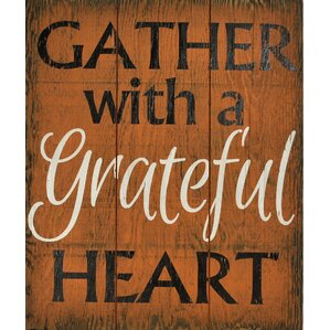 Gather With A Grateful Heart Wall Décor