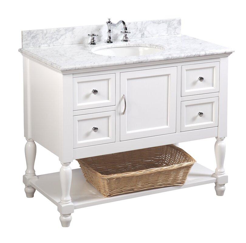 """Beverly 42"""" Single Bathroom Vanity Set"""