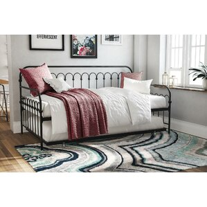 bright pop metal daybed with trundle
