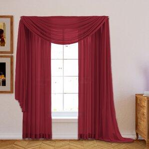 brushgrove solid sheer curtain panels set of 2