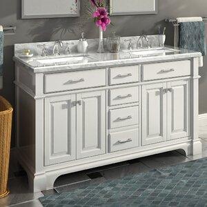Nova 60 Double Sink Bathroom Vanity Set