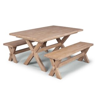 Romford 3 Piece Solid Wood Dining Set