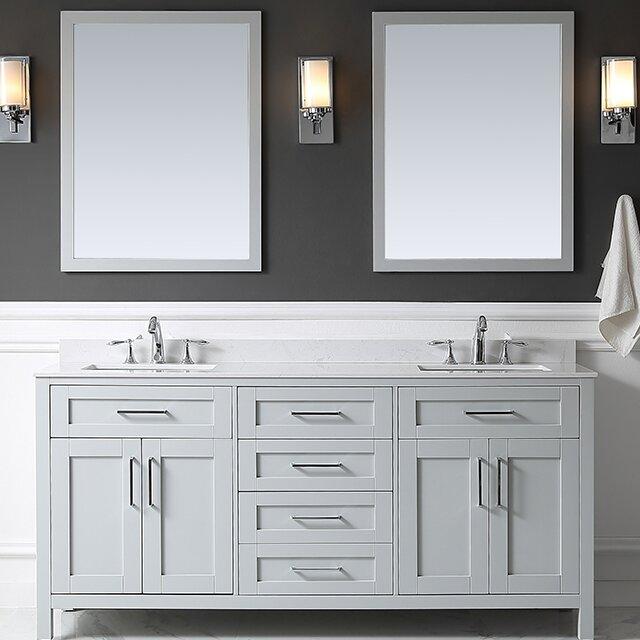"Bathroom Vanity Sets ove decors tahoe 72"" double bathroom vanity set with mirror in"