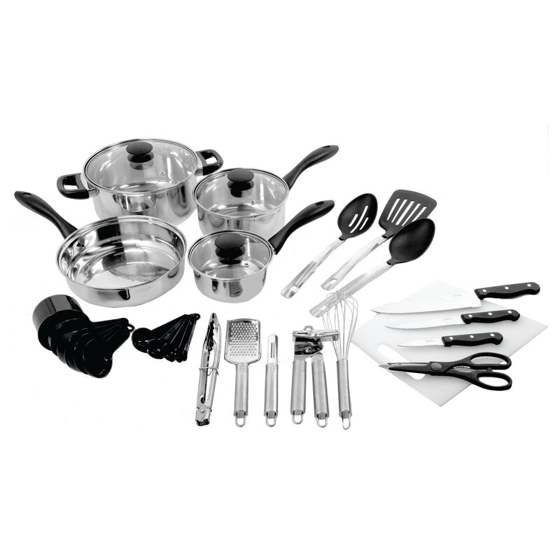 Gibson 30 Piece Total Kitchen Cookware & Kitchen Tool Combo Set ...