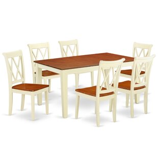 Kriner 7 Piece Extendable Solid Wood Dining Set